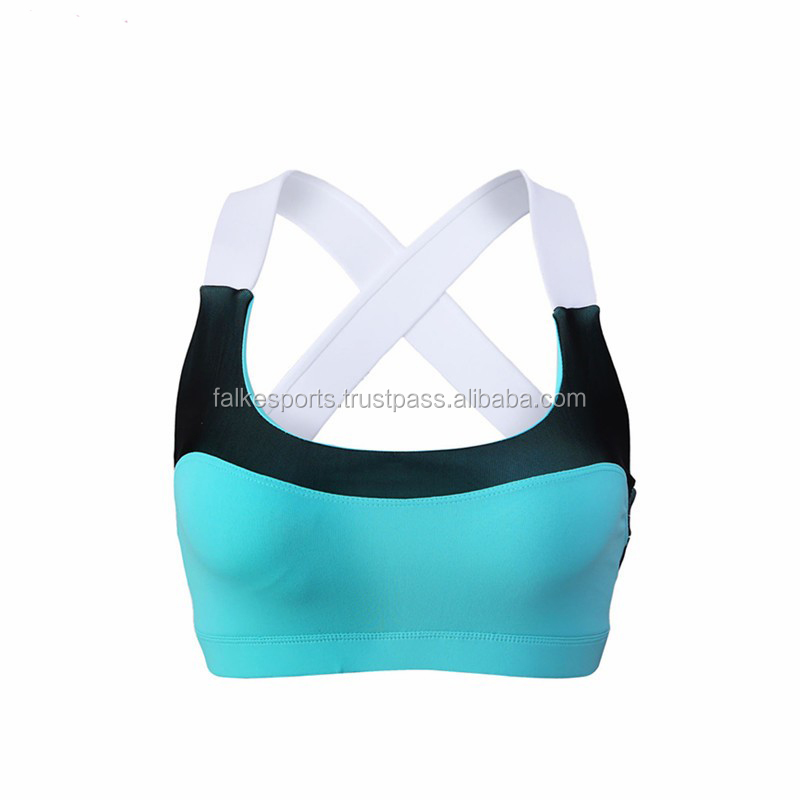 Falke Sports D146 Dry Fit Sublimation Camo Printed Fitness Sexy Crop Tops Wholesale Custom Sports Bra With Mesh