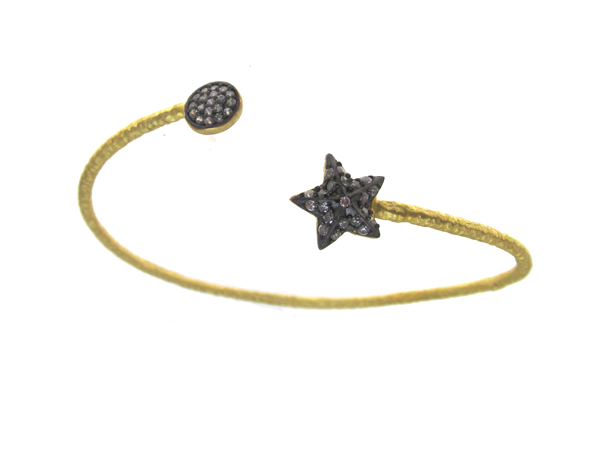 Gold bangle with stars