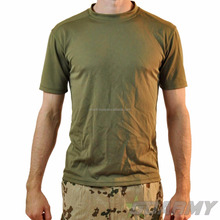 Army olive green cotton Tshirts coolmax