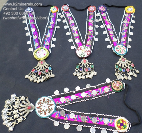 afghan vintage silver tribal banjara necklace 126
