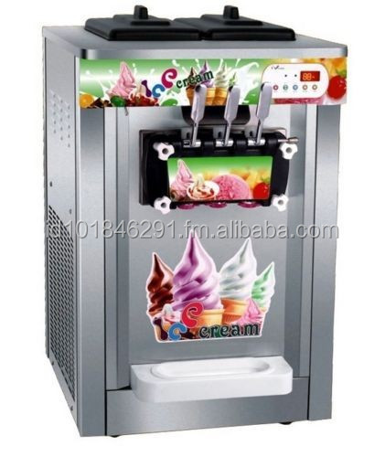 Commercial Counter Top Soft Ice Cream Machine 3 colors