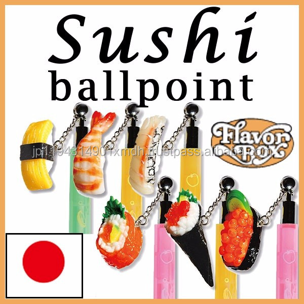 Various kinds of unique artificial food sushi pen with customizable logo
