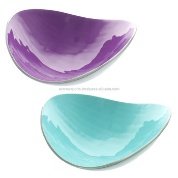 Aluminum Enamel Dry Fruits & Snacks Bowl | Aluminium Enamel Decorative Nut Bowl