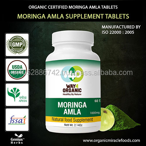 The Superior Quality Certified Moringa Amla Combo Tablet(1000mg) For Export