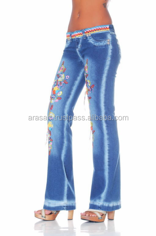 High fashion cotton Denim Blue Jeans pant