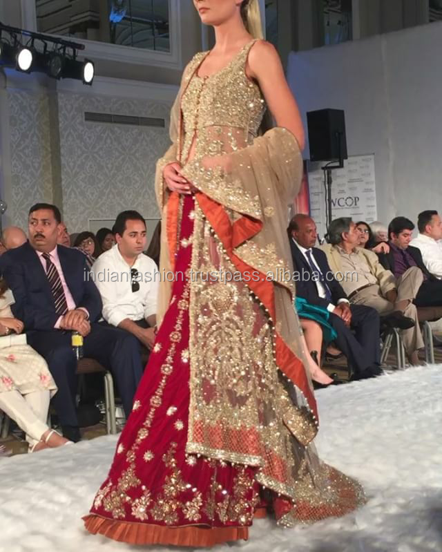Pakistani Wedding bridal Lehenga dress 2016