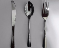 Silver Spoon / fork /knife Single-use Disposable Plastic Cutlery Set Airplane ,restaurants,hotels and cafe