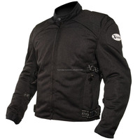 Mens Black Summer Mesh Motorcycle Jackets Padded with Level 3 Advanced XXL Large