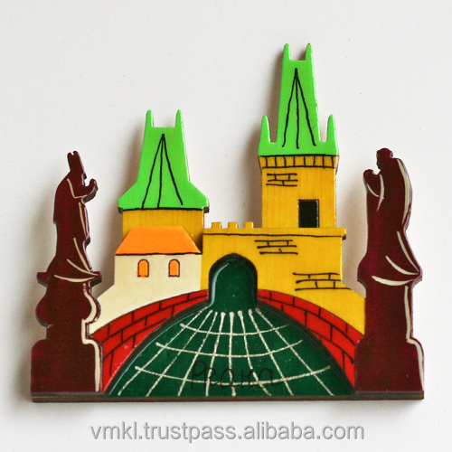 Souvenir magnets with Karlov bridge, fridge magnet city Prague or your city, fridge magnet wholesale, GH2-09