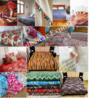 Kantha Quilt Wholesale Patchwork Quilt Throw Blanket Indian Bedspread Fabric Indian Bedding