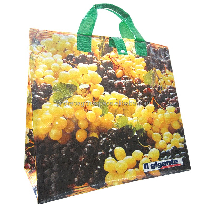 BOPP Laminated PP woven shopping bag recycled PP woven shopping plastic bag