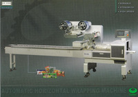 Horizontal Flow Wrapper Machine for Wafer, Biscuit, Snack Bar, Candy Bar, Cake