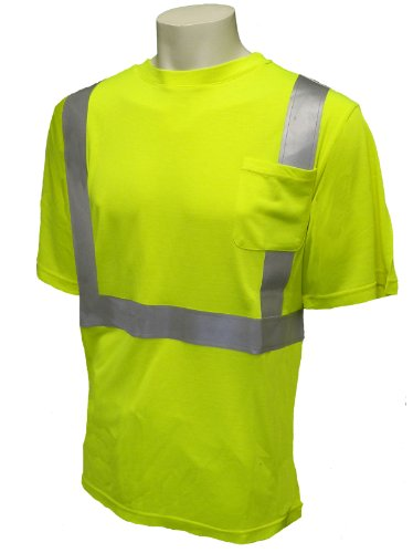 Security t-shirts,reflective tape t-shirt,t shirt with reflective tape for men high visibility work wear/hi vis t