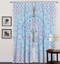 Indian Cotton Mandala Beautiful Home Decor Window Curtain Set New Fashion Design