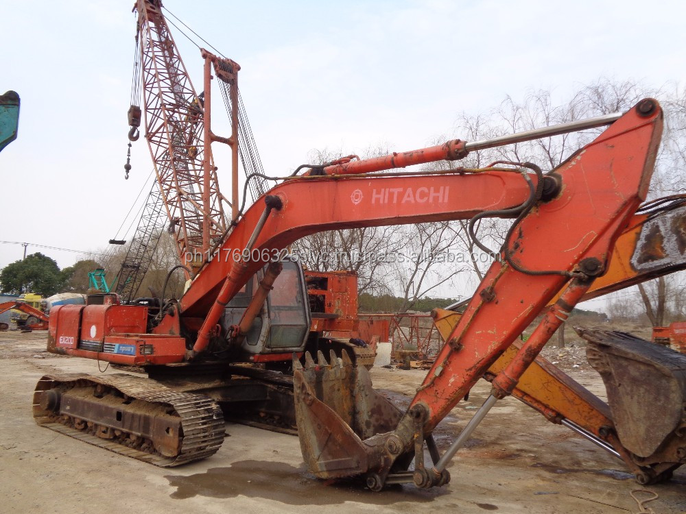 Original used Hitachi EX200-1 hydraulic crawler excavator with ISUZU engine (whatsapp: 0086-13817530084)