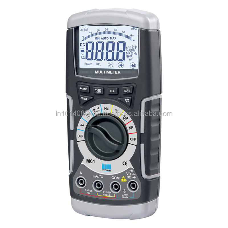 M61- Average 6000 Count Industrial Grade Digital Multimeter