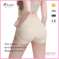 S-SHAPER Mature Women Wearing Sheer Panty Butt Lifter Booty Bra Shorty S0207A3