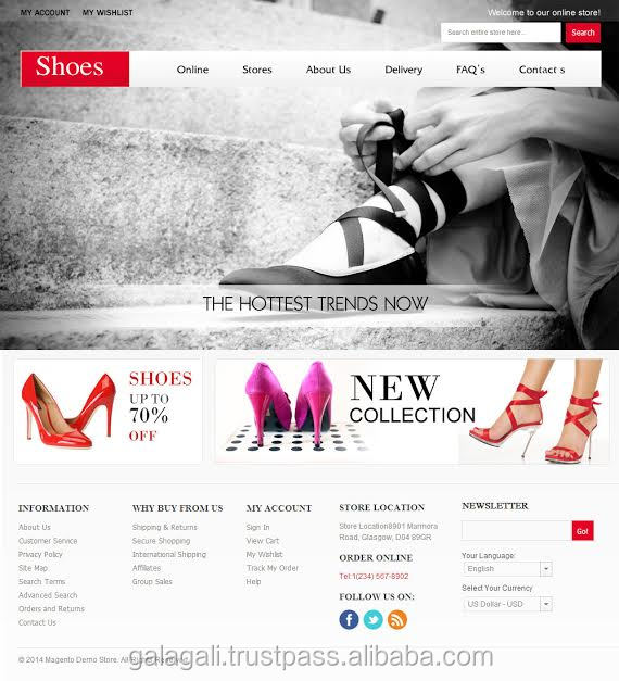E-Commerce Web Page Design and Development Service for Beauty Products