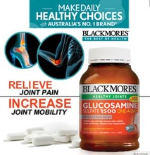 BLACKMORES Glucosamine Sulfate 1500 180s Fr USD$14/bottle