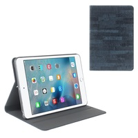 TORRAS Rock Grain Smart Leather Flip Case for iPad Mini 3/2/1 - Dark Blue