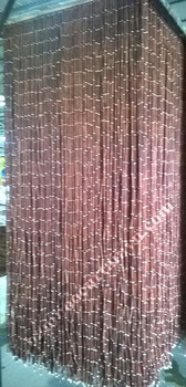 Perfect combination bamboo beaded curtain with wooden bead red color