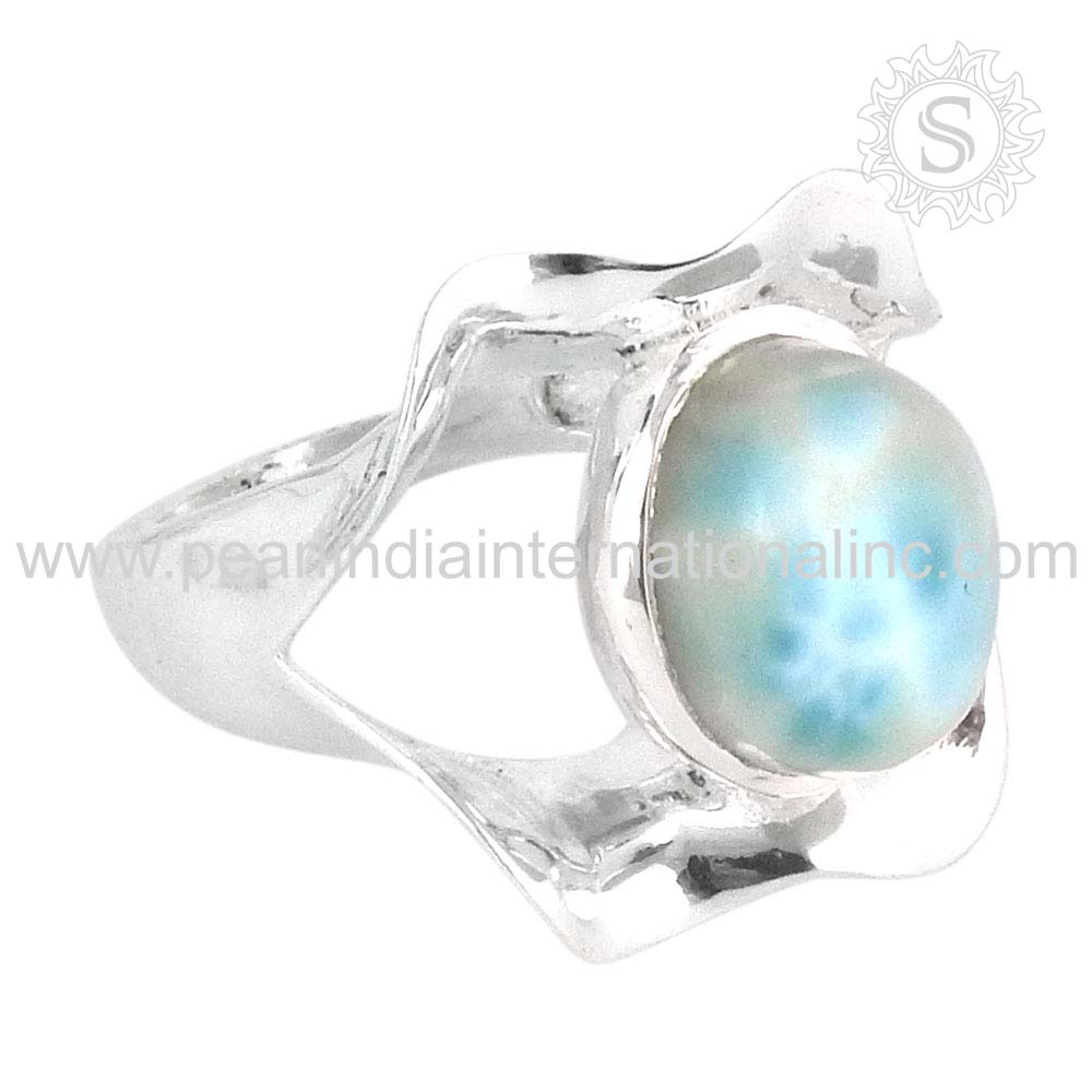 Rattling Larimar Ring 925 Sterling Silver Jewelry Wholesale Silver Jewellery Online
