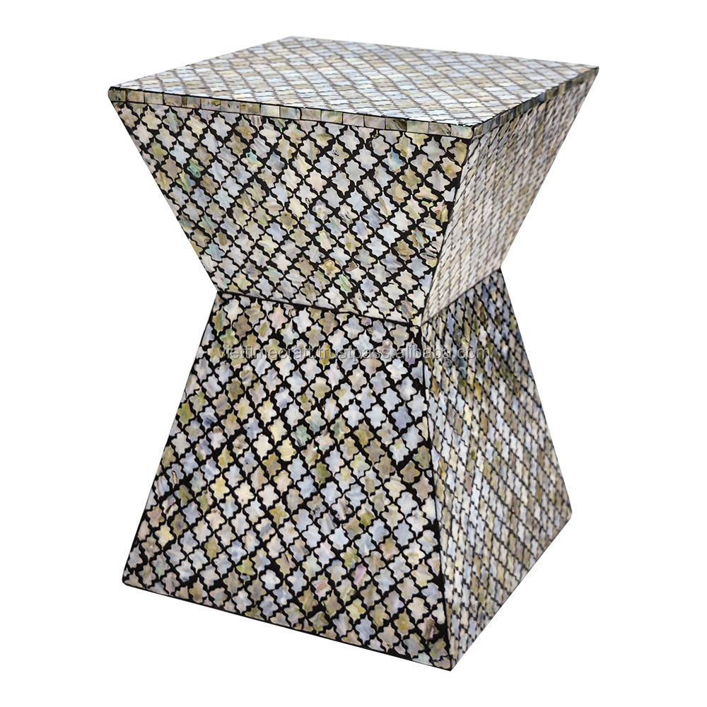 Luxury Mother of Pearl mosaic chair, folding chair handmade in Vietnam