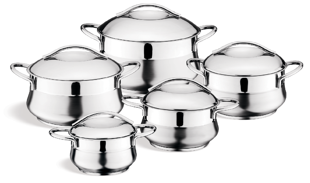 stainless steel pot set 10pcs