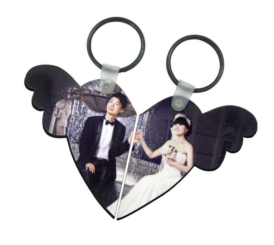 Hot selling sublimation blank couple love keychains
