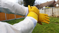 Beekeeping equipment Farming Gloves Beekeeping Gloves, Beekeeping Ventilated Gloves, Yellow Beekeepers Bee Gloves