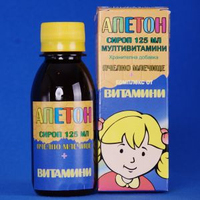 Syrup with royal jelly and vitamins for children