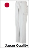 Work cargo pants made with cotton twill fabric at appealing prices. Made by Japan.