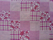 custom made patchwork fabric made from recycled scrap cotton fabric cut pieces suitable for quilters, patchwork and crafts