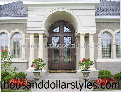 Excellent shape and size Antique Exterior Entry Door Panel Divided Beveled Glass Lites Country Door Collection.