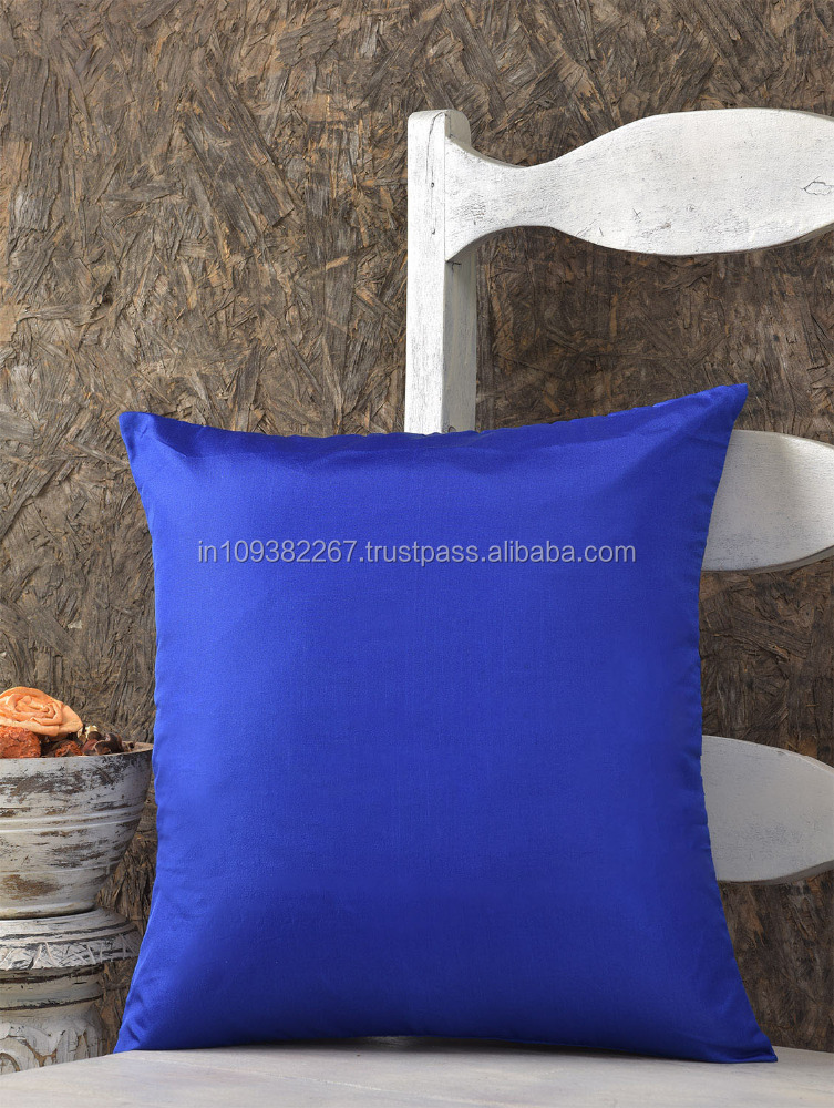Polysilk Plain Cushion Cover for Drawing Room