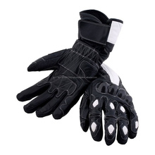 LEATHER GLOVES MOTORCYCLE, CARBON BIKE PROTECTION