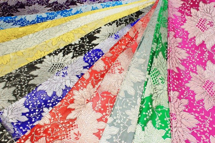 Jacquard Fabric with Nice Floral Design Fancy Brocade Fabric in 13 colors
