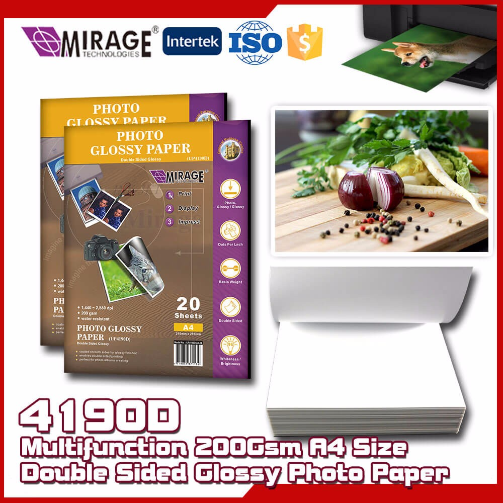 Multifunction 200Gsm A4 Size Double Sided Glossy Photo Paper