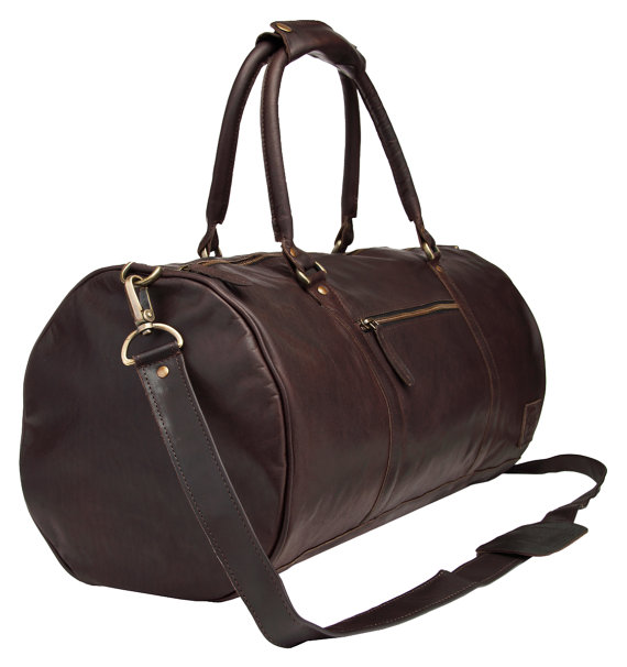 Leather Duffle bag - overnight bag - gym bag - holdall