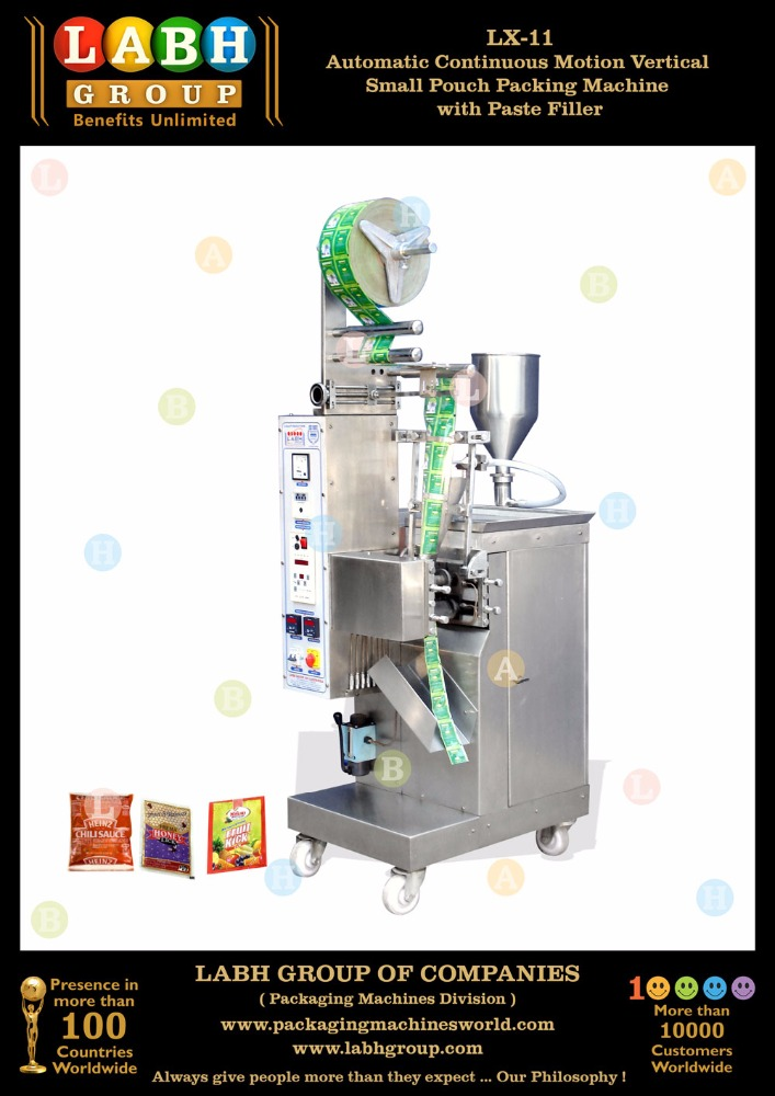 Automatic Pouch Sachet Packaging Machine for Onion Garlic Paste, Tomato Paste etc.