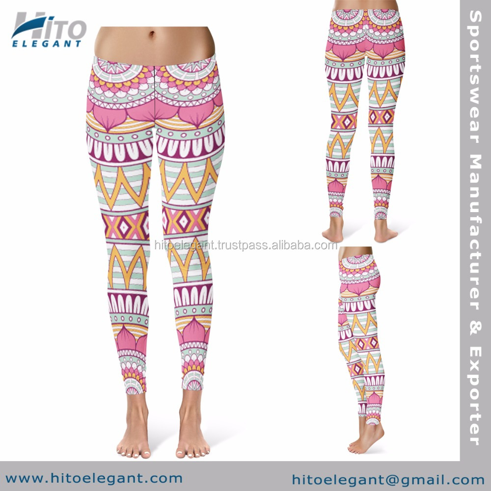 New Best boho style Leggings Hot Sale Gym Fitness Yoga Tights Jogging Yoga Leggings For Women Supplier AA-HE-LT-2365