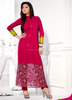 Salwar kameez neck designs for georgette