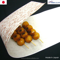 Artificial bamboo skin , wrapping paper usable for Japanese food , coated in paraffin wax