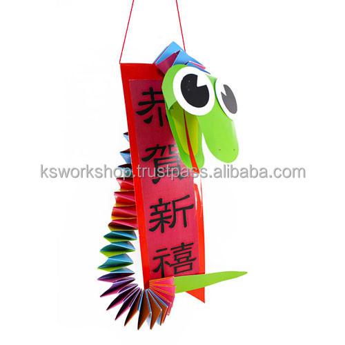 CNY Fancy Paper Snake Deco 10 Pack