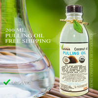 Oil Pulling virgin coconut oil For gargle to get rid of bacteria and gums 200 ml