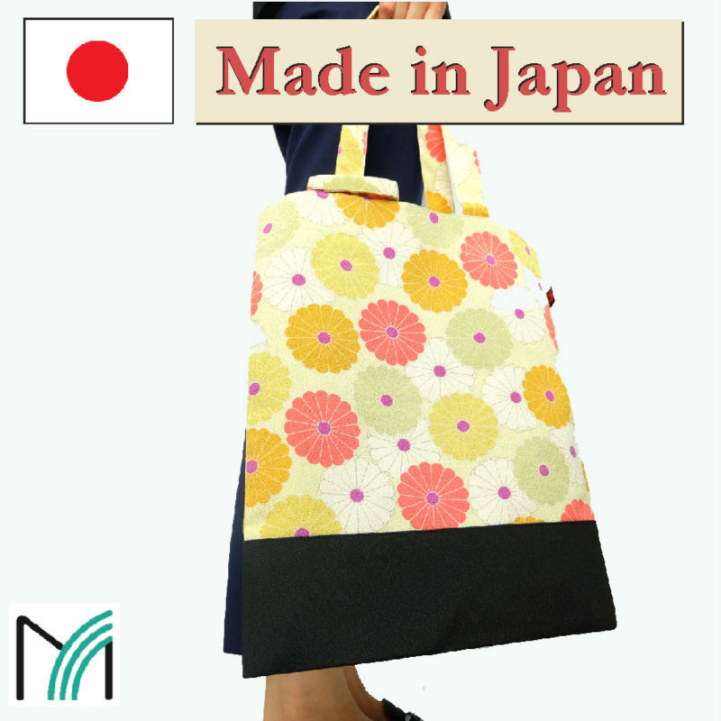 Trendy high quality fashion shopping cotton bag made in japan chirimen crepe fabric bags and accessories