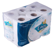 EMOS CLASSIC BATHROOM TISSUE 2 PLY PACK 12 ROLLS