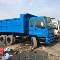 20ton Blue 360hp Used 6*4 Nissan Dump truck for sale