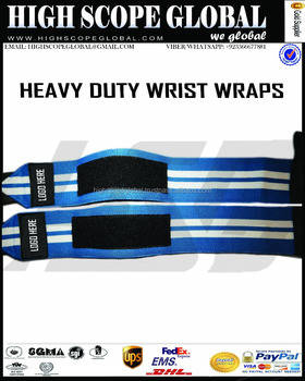 Wrist Wraps Heavy Professional Quality Powerlifting, Bodybuilding, Weight Lifting Wrist Supports for Training