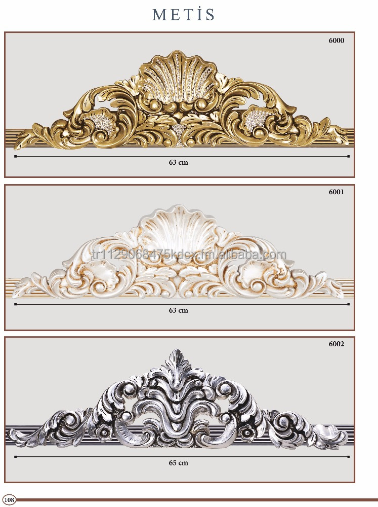 Golden Metal Metis Series Drapery Crowns, Rods, Brackets, Finials, Tiebacks, Holdbacks
